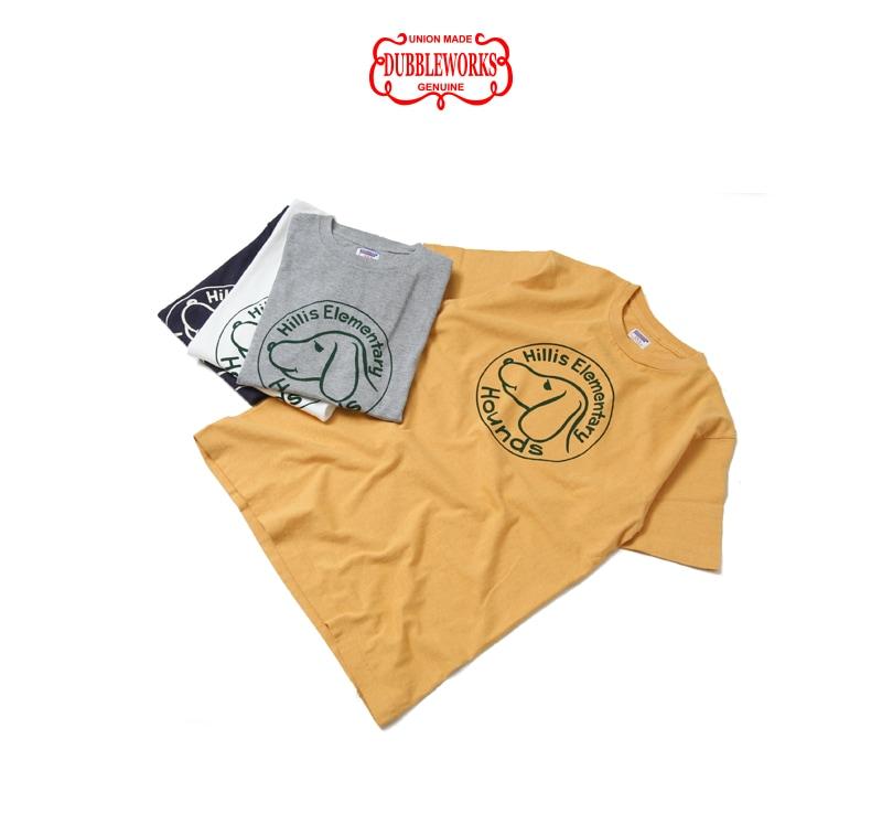 ダブルワークス DUBBLEWORKS 33005 プリントTシャツ [HILLS ELEMENTARY]
