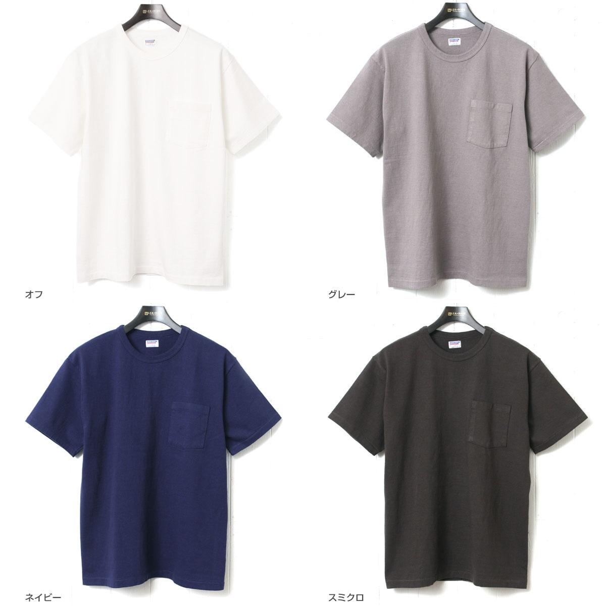 ダブルワークス ポケット付き度詰めTシャツ 無地 DUBBLEWORKS 37002