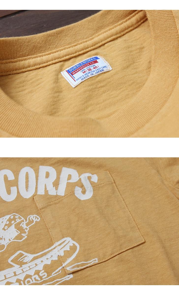 ダブルワークス DUBBLEWORKS 34002 ポケット付き プリントTシャツ [FLAG CORPS]