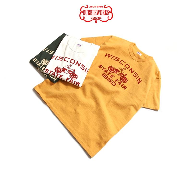 ダブルワークス 度詰め半袖Tシャツ [WISCONSIN] DUBBLEWORKS 37001