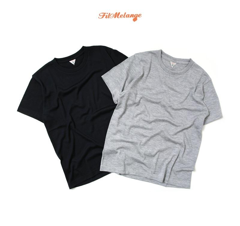 FilMelange フィルメランジェ MOGG モグ カシミア半袖Tシャツ ニット セーター