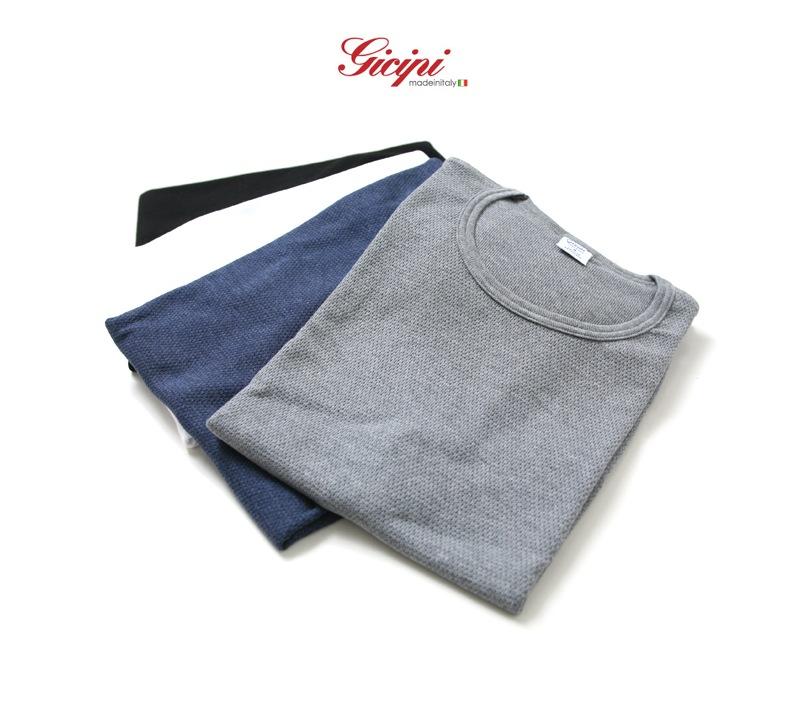 Gicipi ジチピ ワッフル クルーネック 半袖 Tシャツ 1601