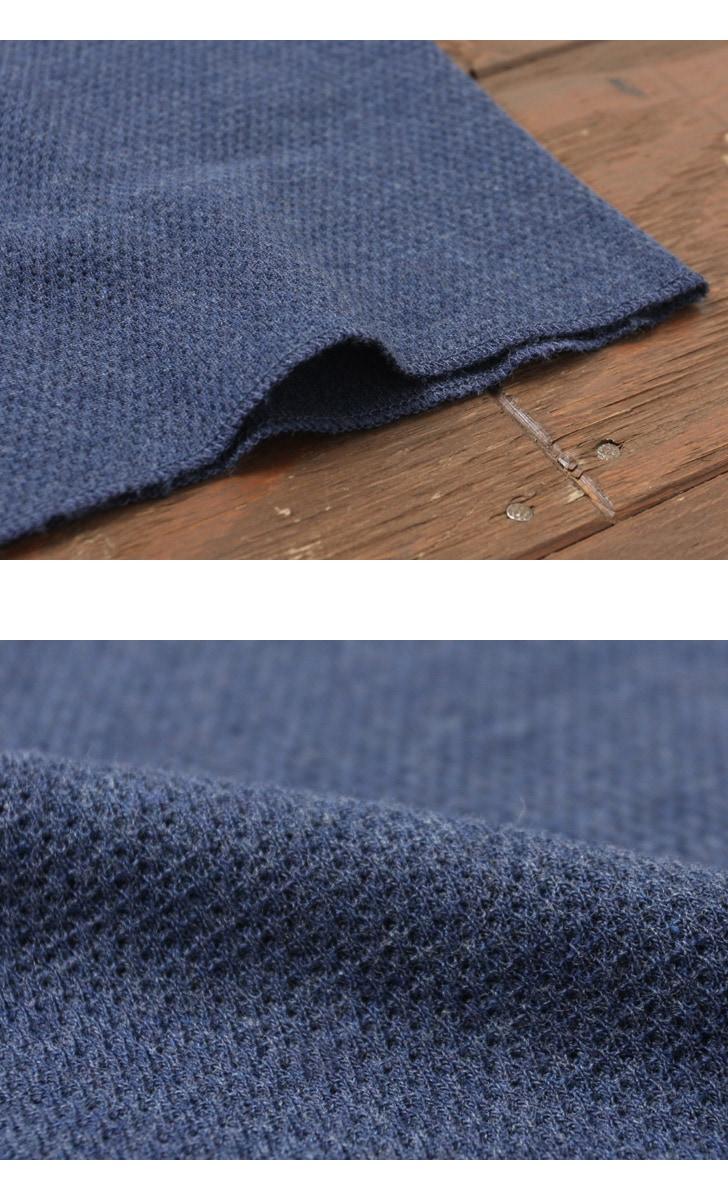 Gicipi ジチピ ワッフル ヘンリーネック 半袖 Tシャツ 1702