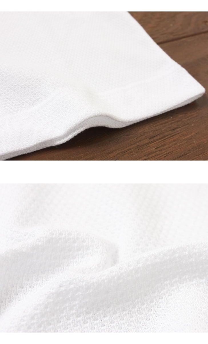 Gicipi ジチピ レディース ワッフル クルーネック 半袖 Tシャツ インナー 1710