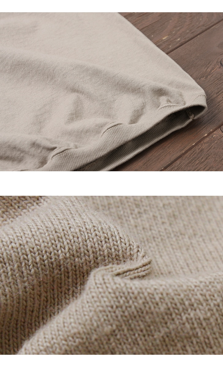 グッドウェア GOODWEAR CREW-NECK S/S T-SHIRTS WITH CUFF AND HEM RIB クルーネックリブ付きTシャツ NGT9801 【ユニセックス】
