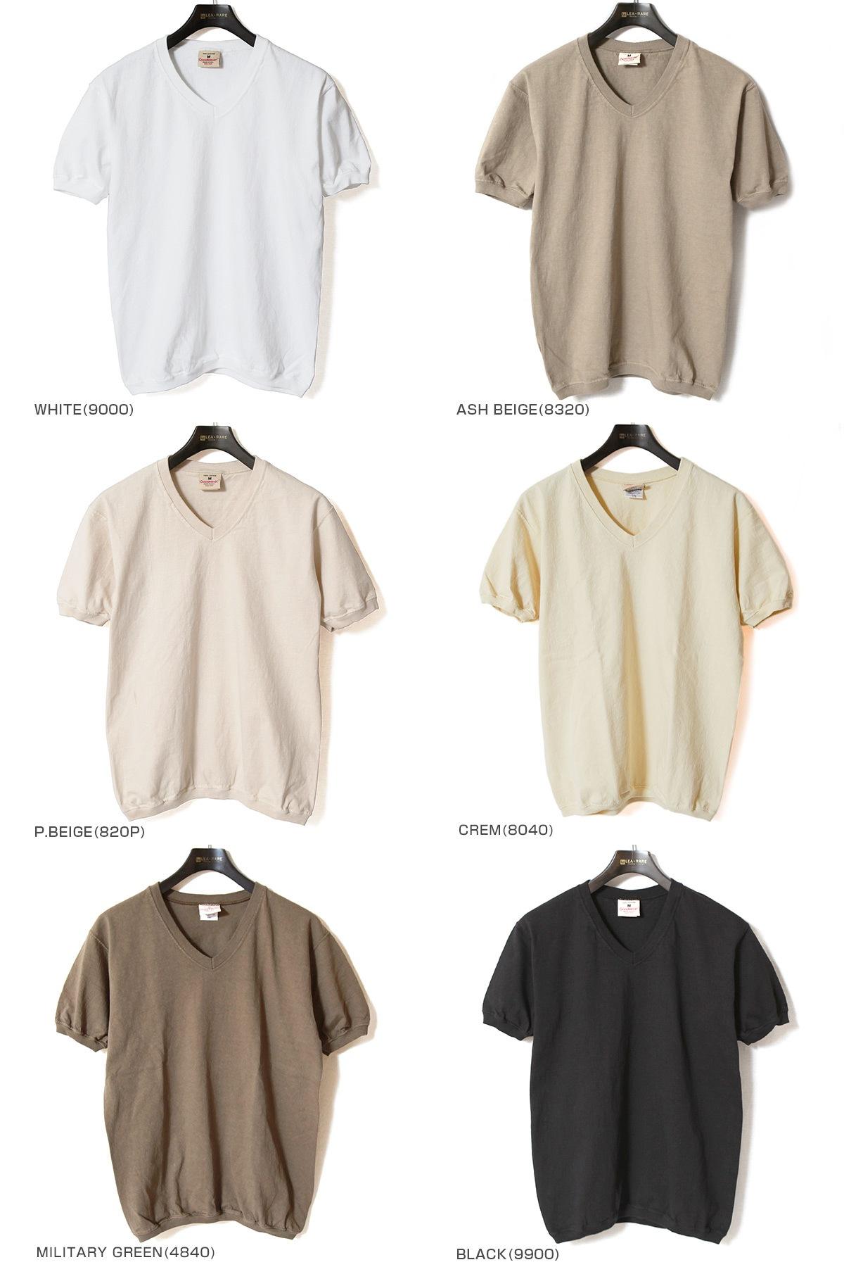 グッドウェア GOODWEAR V-NECK S/S T-SHIRTS CUFF AND BOTTOM RIB Vネックリブ付きTシャツ NGW1701 【ユニセックス】