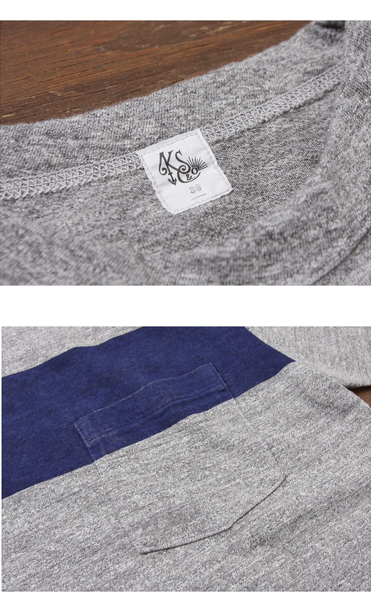 KAPTAIN SUNSHINE キャプテンサンシャイン West Coast Tee ラインプリントTシャツ KS7SCS03