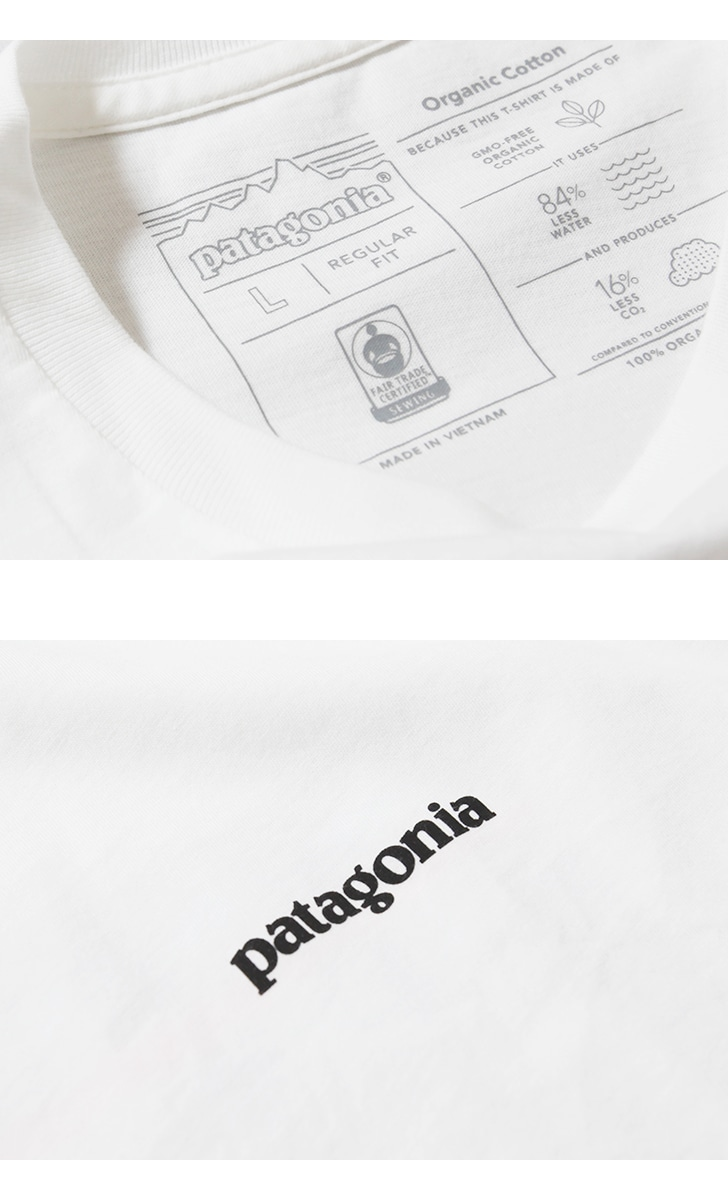patagonia パタゴニア 半袖Tシャツ メンズ・P-6ロゴ・オーガニック・Tシャツ M's P-6 Logo Organic T-Shirt 38535