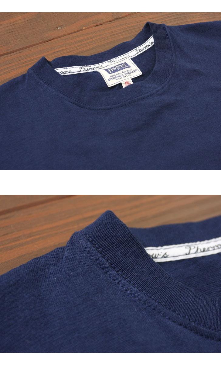 Pherrow's フェローズ ポケット付きプリントTシャツ [バッファロー] 17S-PPT1
