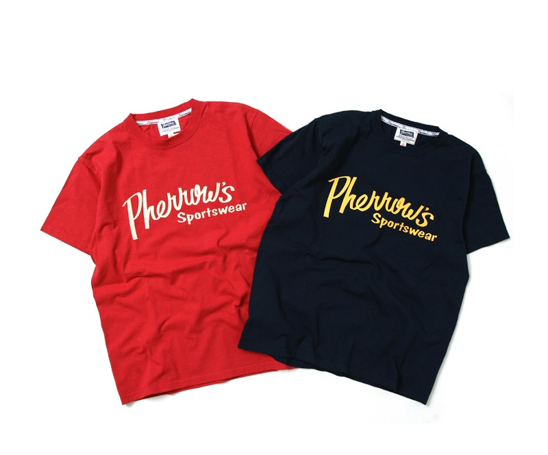 Pherrow's フェローズ 半袖 プリント Tシャツ [Pherrow'sロゴ] 17S-PT1