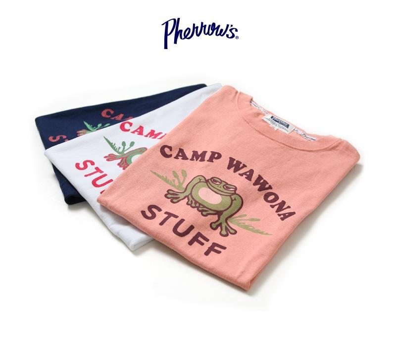 フェローズ 半袖プリントTシャツ [CAMP WAWONA] Pherrow's 17S-PT12