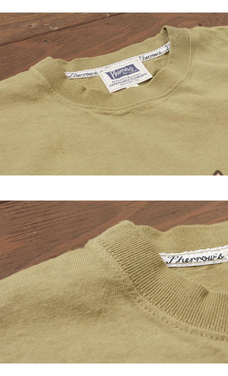 フェローズ 半袖プリントTシャツ [フクロウ] Pherrow's 17S-PT18