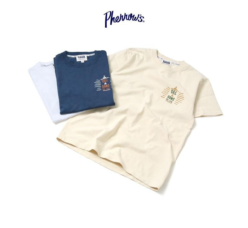 フェローズ 半袖プリントTシャツ [DEL&SONS] Pherrow's 17S-PT21