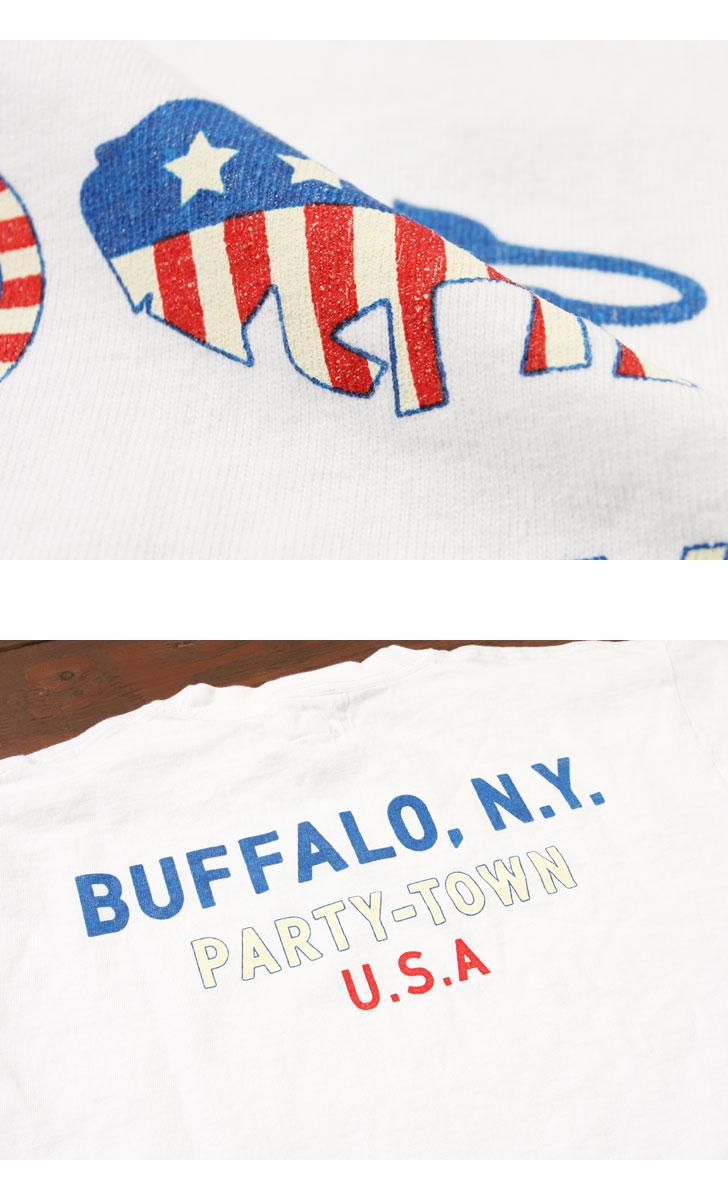 Pherrow's フェローズ 半袖 プリント Tシャツ [BUFFALO,N.Y] 17S-PT9