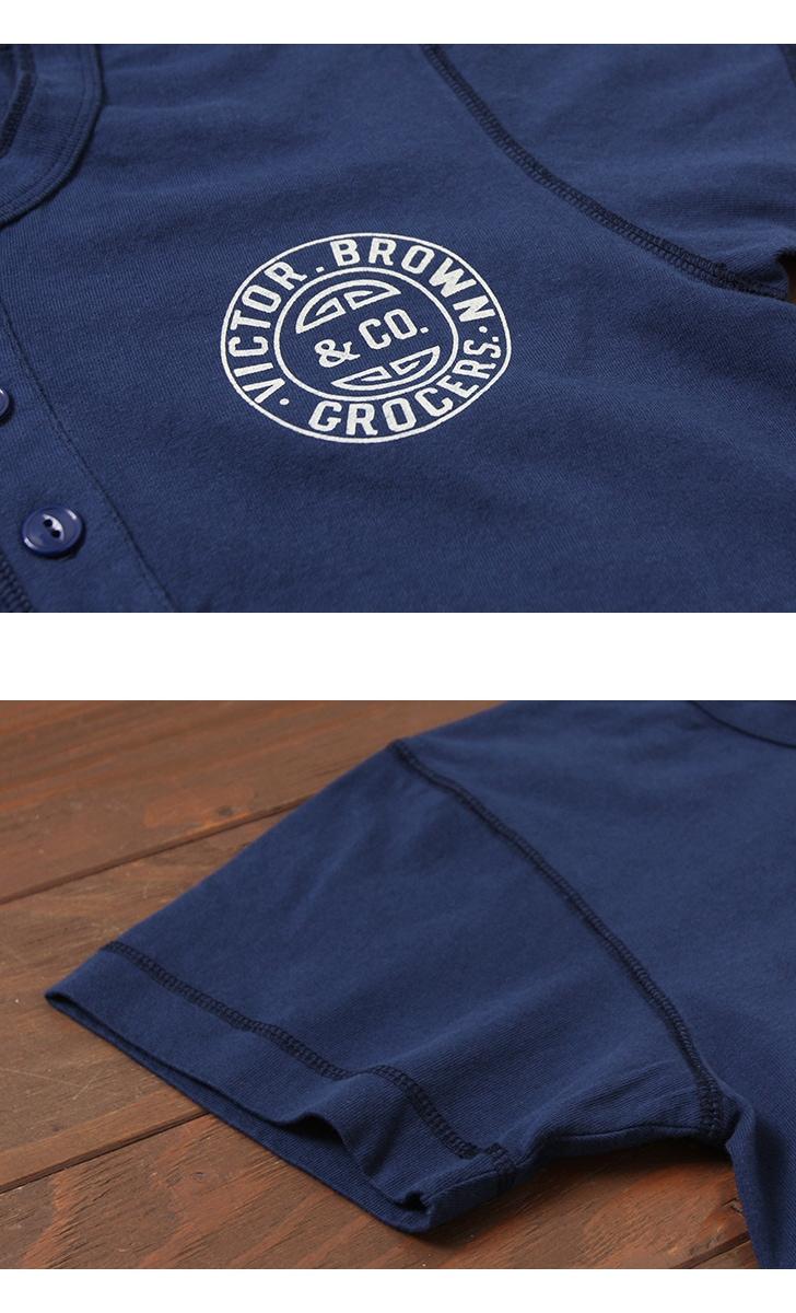 フェローズ ヘンリーネック プリントTシャツ [VICTOR.BROWN] Pherrow's 18S-PHNT1-P1