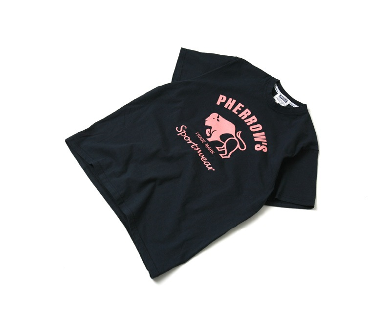 Pherrow's フェローズ Tシャツ 半袖 プリント バッファロー PT2