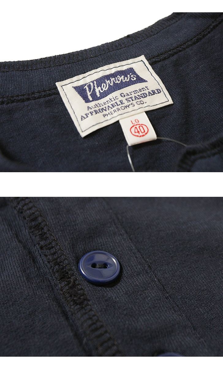 フェローズ ヘンリーネック プリントTシャツ [Pherrow's] 19S-PHNT-P2