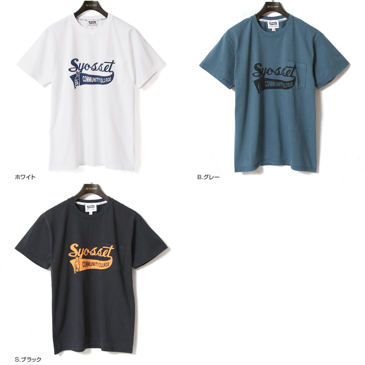 Pherrow's フェローズ ポケット付きプリントTシャツ [SYOSSET] 19S-PPT3