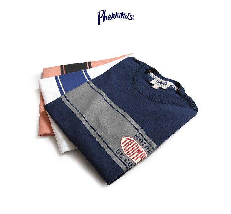 Pherrow's フェローズ 半袖 プリント Tシャツ [TRIUMPH] 19S-PT7
