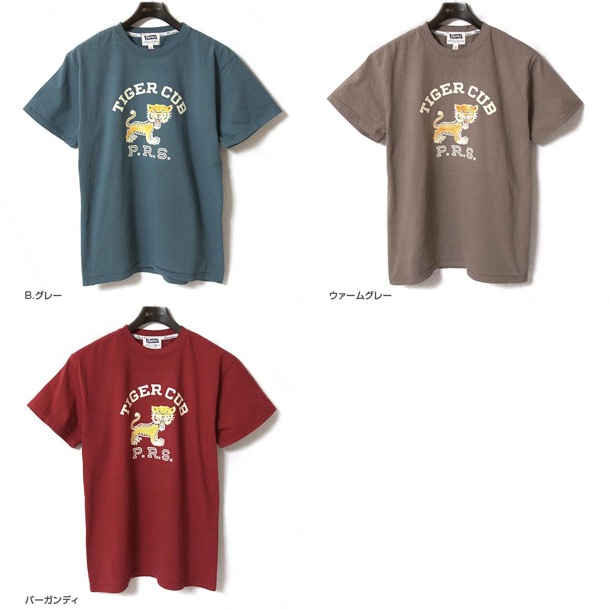 Pherrow's フェローズ 半袖 プリント Tシャツ [TIGER CUB] 19S-PT5