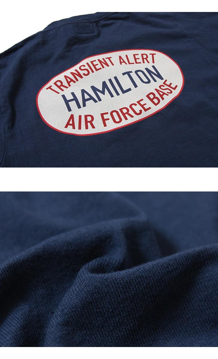 Pherrow's フェローズ ポケット付きプリントTシャツ [U.S.A.F.] 19S-PPT2