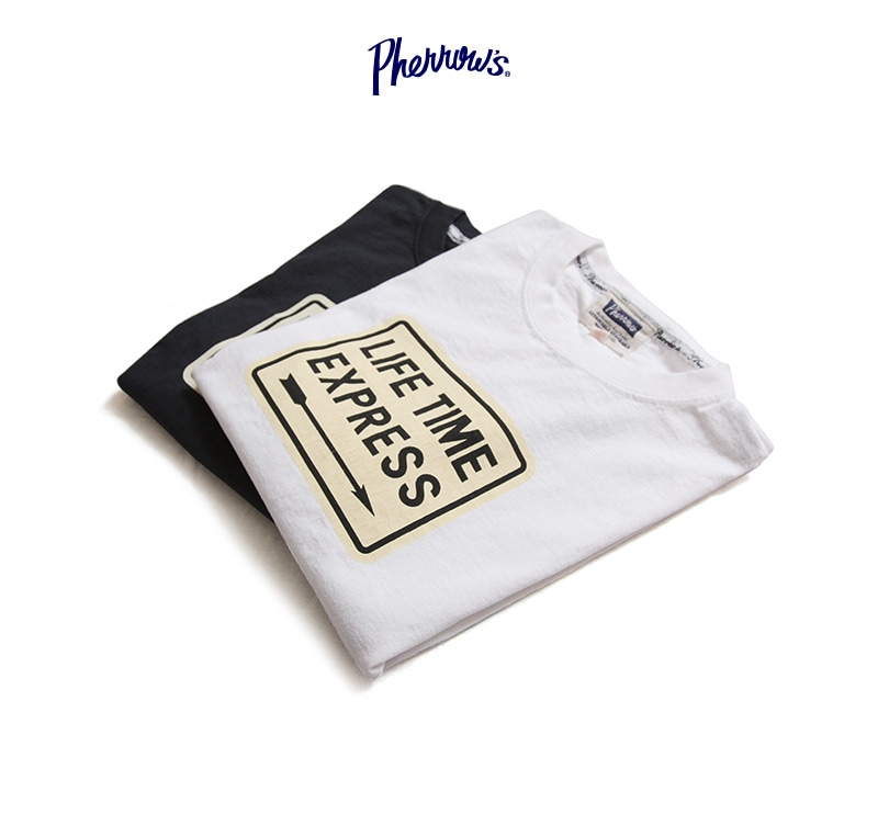 Pherrow's フェローズ 半袖 プリント Tシャツ [LIFE TIME] 19S-PT7