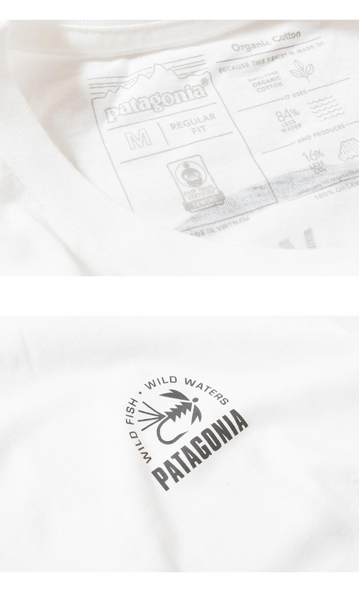 patagonia パタゴニア 半袖Tシャツメンズ・フレームド・フィッツロイ・トラウト・オーガニック・Tシャツ M's Framed Fitz Roy Trout Organic T-Shirt 38529