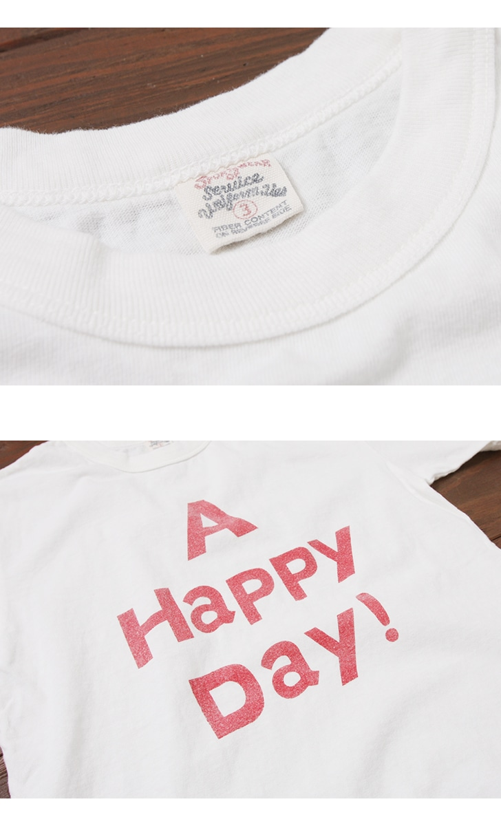 UES ウエス プリントTシャツ [A HAPPY DAY!] 651841
