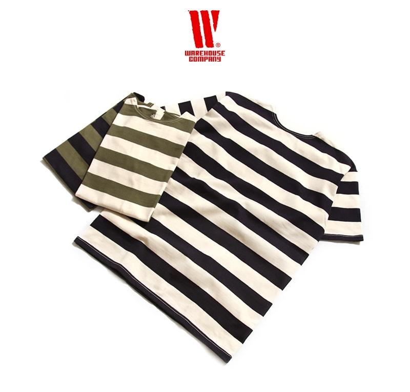 ウエアハウス 2インチボーダー 半袖 Tシャツ WAREHOUSE 4050