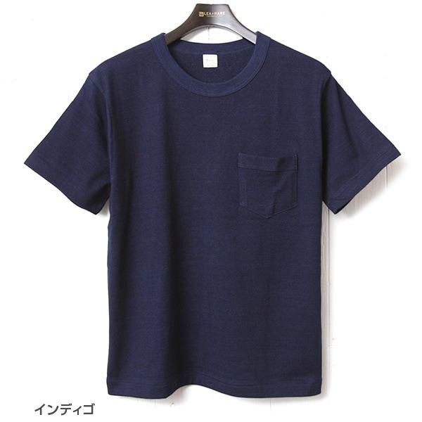 ウエアハウス WAREHOUSE インディゴポケットTシャツ 4053 半袖 無地
