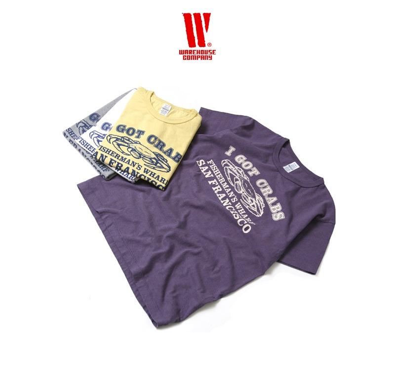 ウエアハウス WAREHOUSE 2nd hand Series プリントTシャツ 4064 [CRABS]