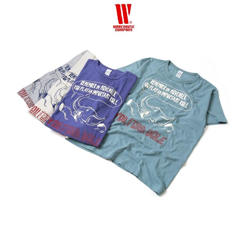 ウエアハウス WAREHOUSE 2nd hand Series プリントTシャツ 4064 [FORD&DOLE]