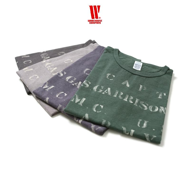 ウエアハウス WAREHOUSE 2nd hand Series プリントTシャツ 4064 [CAPT. N.S.GARRISON.]