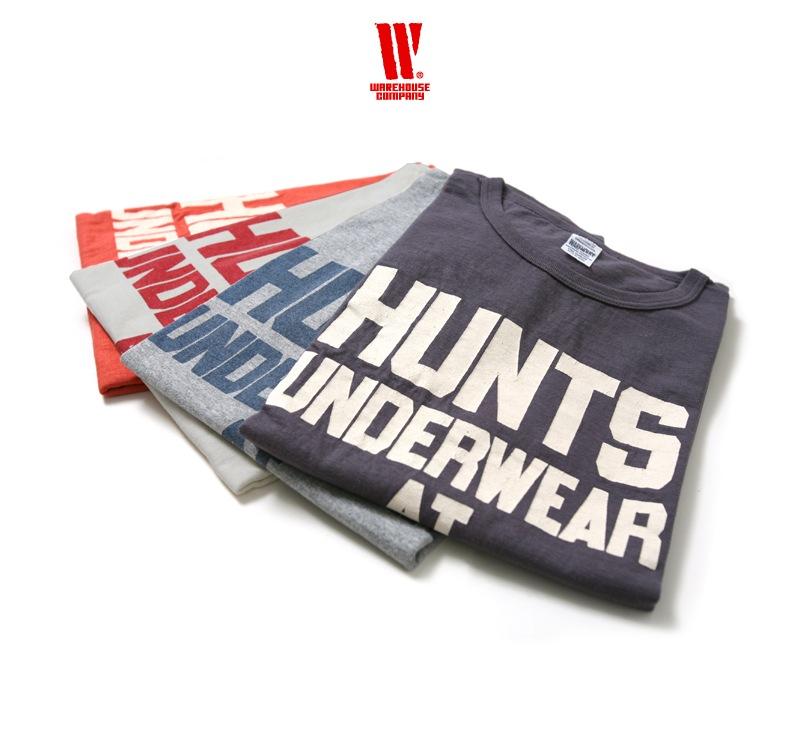 ウエアハウス WAREHOUSE 2nd hand Series プリントTシャツ 4064 [HUNTS]