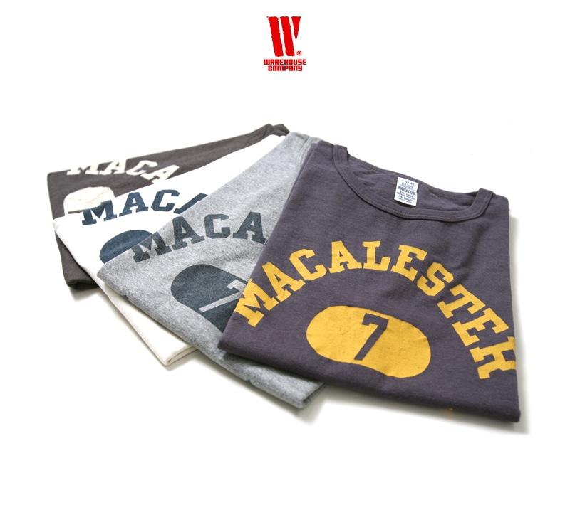 ウエアハウス WAREHOUSE 2nd hand Series プリントTシャツ 4064 [MACALESTER]