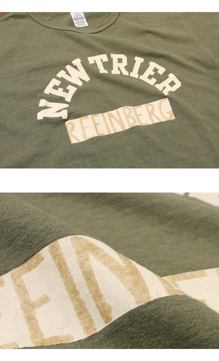 ウエアハウス WAREHOUSE 2nd hand Series プリントTシャツ 4064 [NEW TRIER]