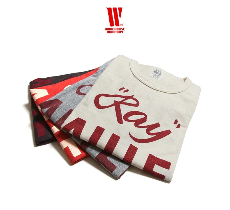 ウエアハウス WAREHOUSE 2nd hand Series プリントTシャツ 4064 [RAY]