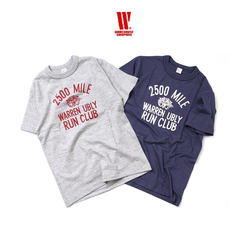 ウエアハウス WAREHOUSE 半袖Tシャツ 4601 [RUN CLUB]