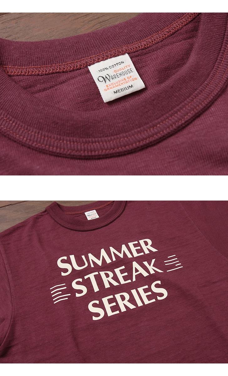 ウエアハウス WAREHOUSE 半袖Tシャツ 4601 [SUMMER STREAK]