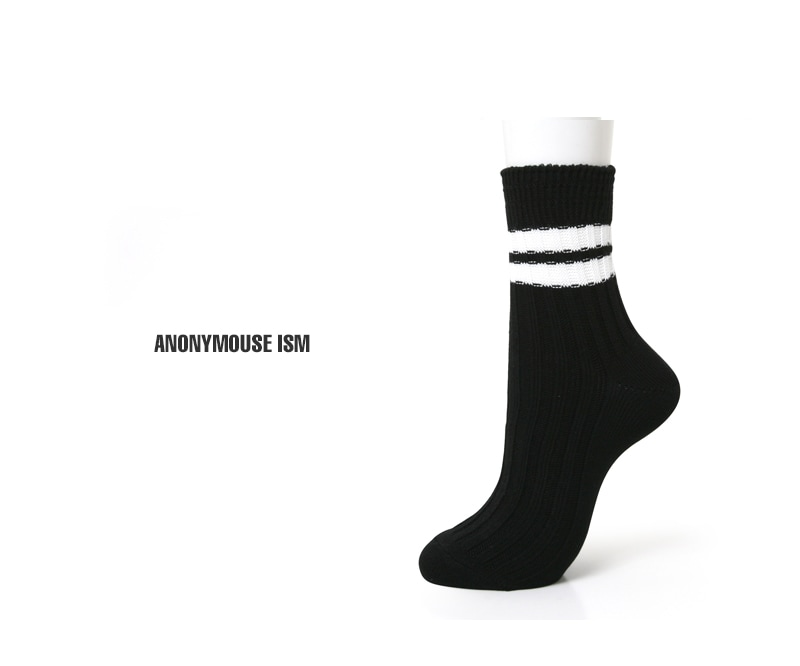 ANONYMOUSEISM アノニマスイズム 2ラインクォーターソックス 靴下 15182300