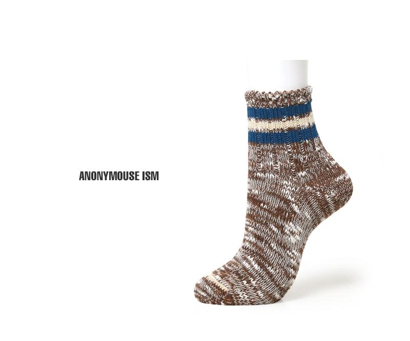 ANONYMOUSEISM アノニマスイズム 3ラインスラブクォーターソックス 靴下 15197000