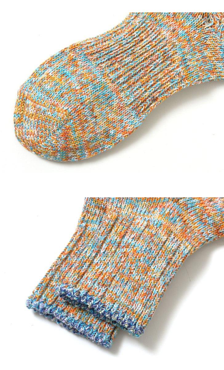 LE MONDE ル・モンド ルモンド トップライン6色ツイスター杢ソックス 靴下 107507