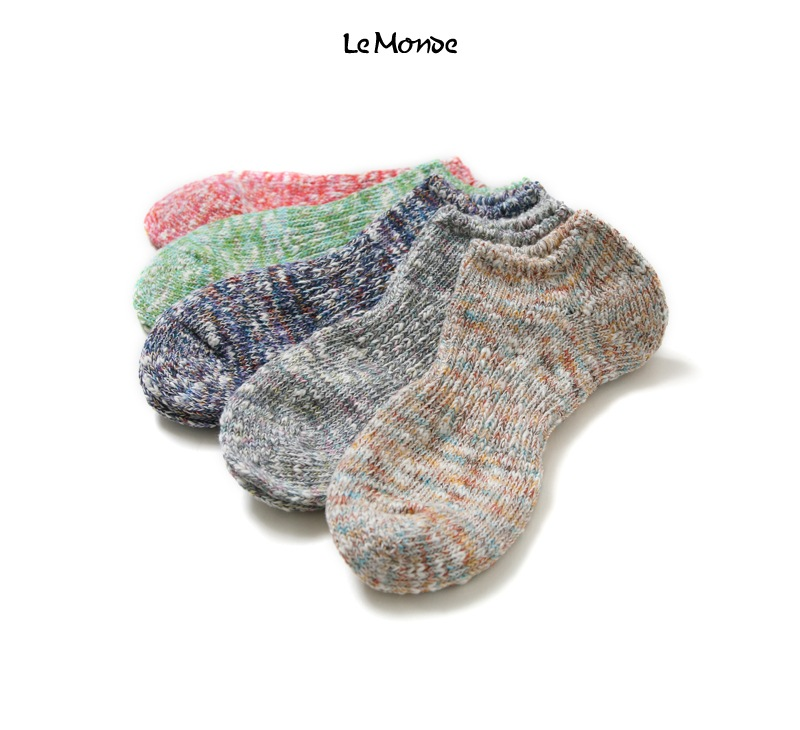 LE MONDE ル・モンド ルモンド スラブリップルスニーカーソックス 靴下 118180
