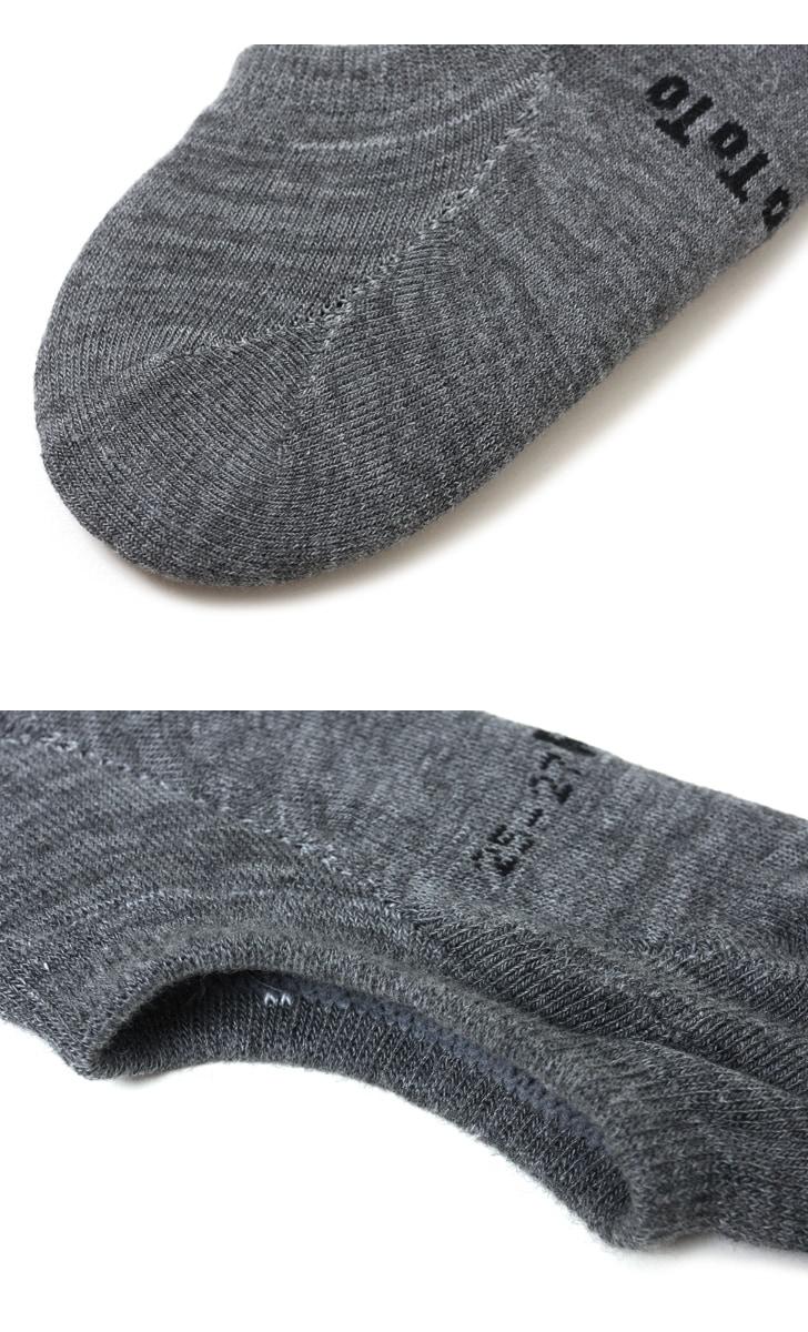 RoToTo ロトト 靴下 パイル フットカバー ソックス R1007 メンズ レディース