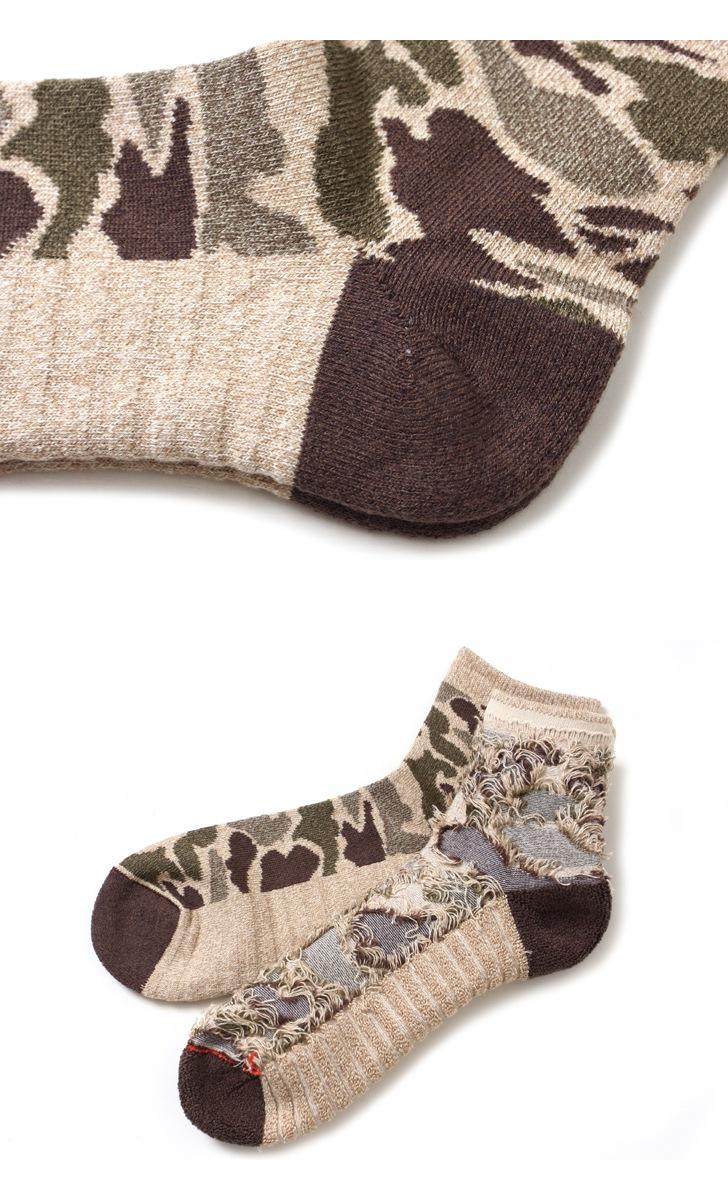 RoToTo ロトト 靴下 CAMO SHORT SOCKS カモショートソックス R1041 【レディース&メンズ】