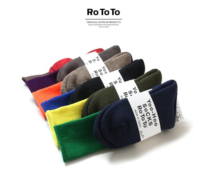 RoToTo ロトト 靴下 Yoo-Hoo Socks ヨーホーソックス R1124 レディース メンズ