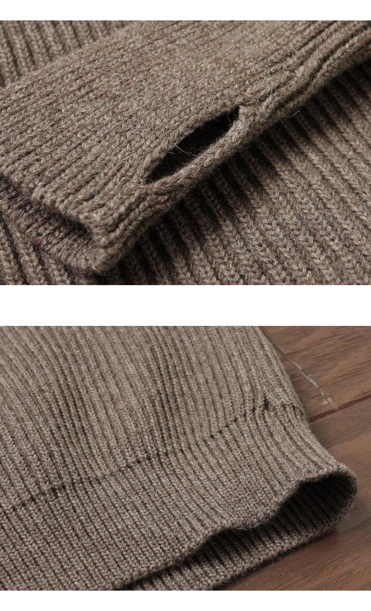 ANDERSEN-ANDERSEN アンデルセンアンデルセン THE NAVY CREW NECK クルーネックセーター [NATURAL COLOR WOOL] AA72115