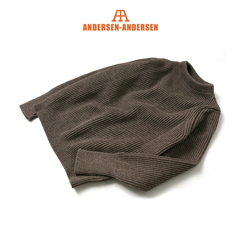 ANDERSEN-ANDERSEN アンデルセンアンデルセン THE NAVY CREW NECK クルーネックセーター [NATURAL COLOR WOOL] AA-1821016