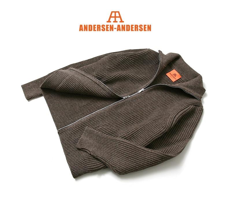 ANDERSEN-ANDERSEN アンデルセンアンデルセン THE NAVY フルジップカーディガン [NATURAL COLOR WOOL] AA72116