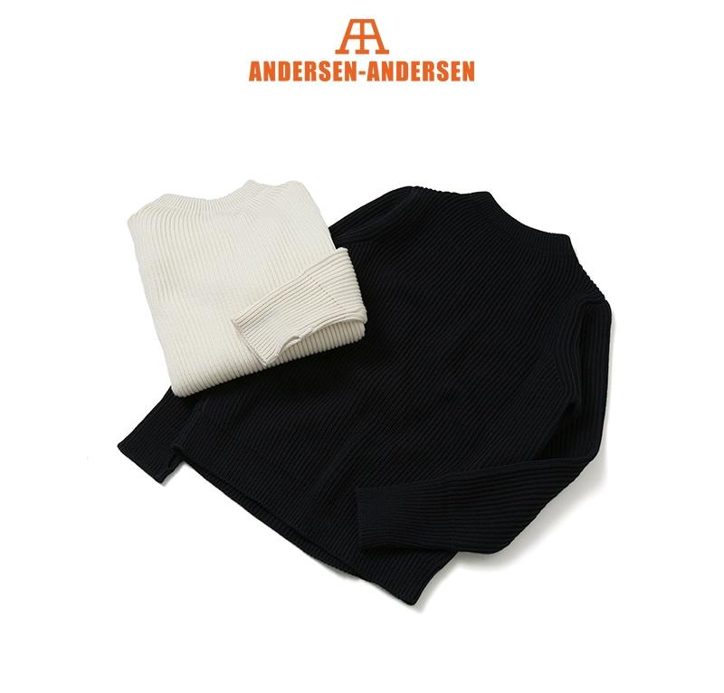 ANDERSEN-ANDERSEN アンデルセンアンデルセン THE NAVY CREW NECK クルーネックセーター AD-002